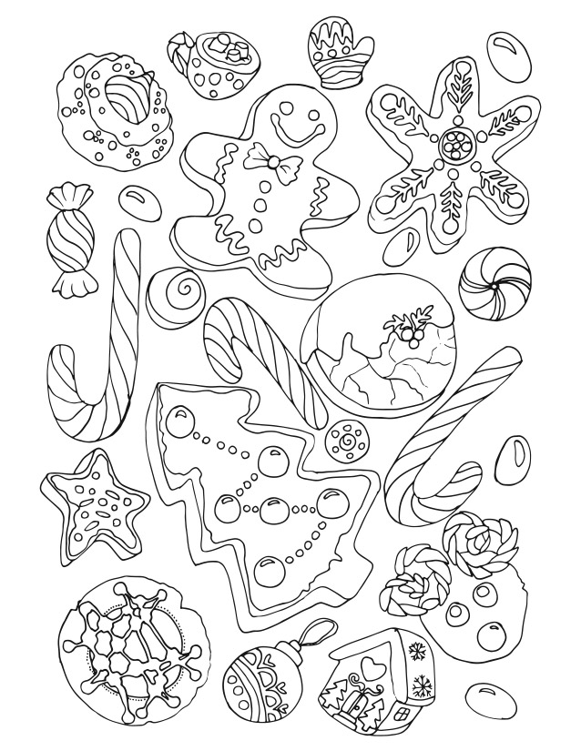 merry christmas - Christmas Coloring Books For Adults