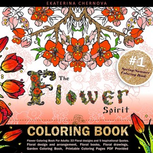 etsy2 flower coloring book for adults printable coloring pages floral designs