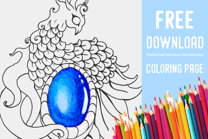 free-jewel-coloring-page-blog phoenix brooch