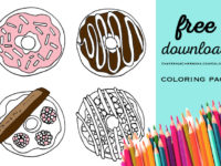 doughnuts coloring page