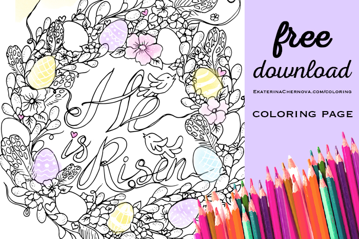 easter coloring page free download