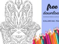 hamsa coloring page