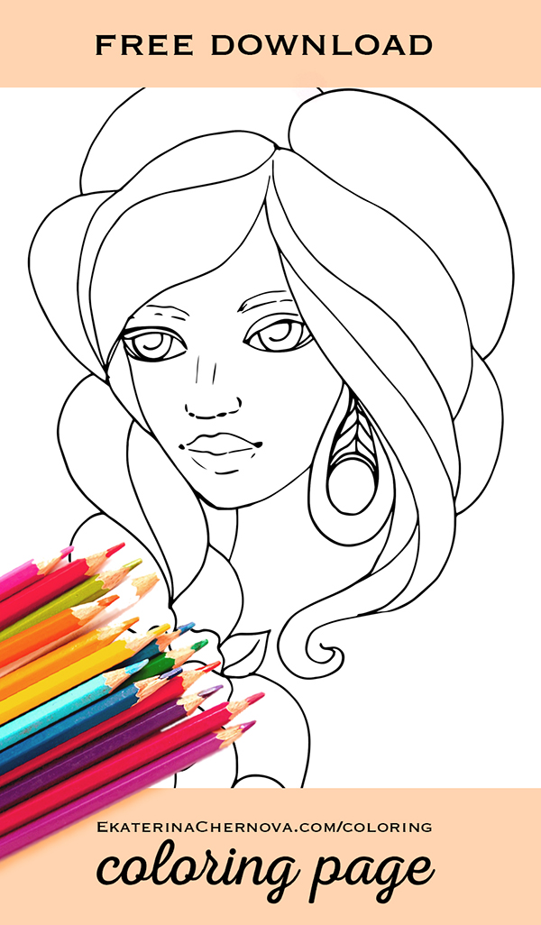 portrait coloring page